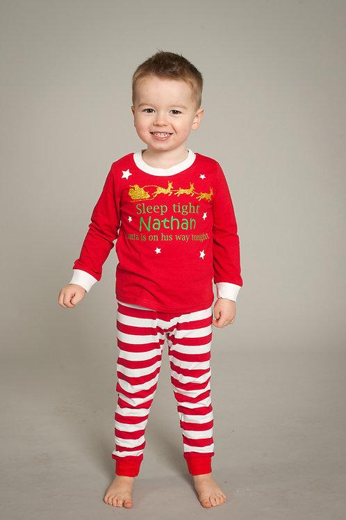 Personalised Kids Christmas pyjamas