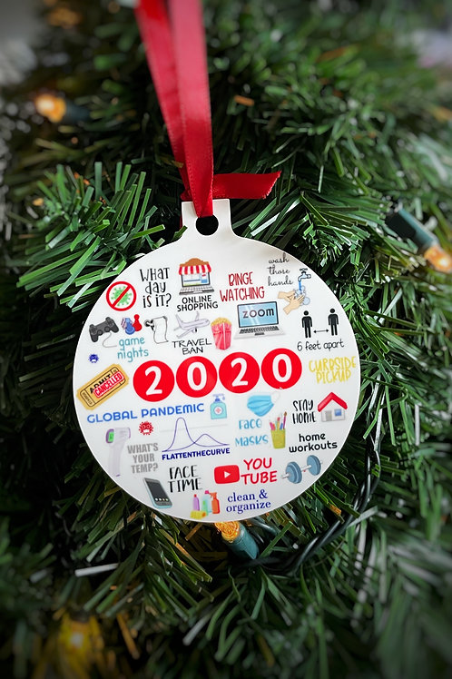 Covid Christmas Ornament