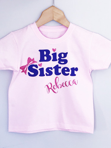 Personalised Big Sister Announcement T Shirt