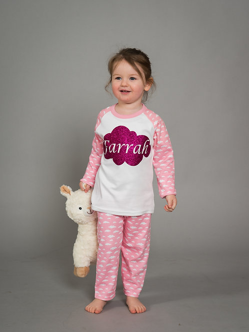 Personalised Kids Cloud Pyjamas