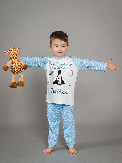 Personalised Kids Birthday Pyjamas