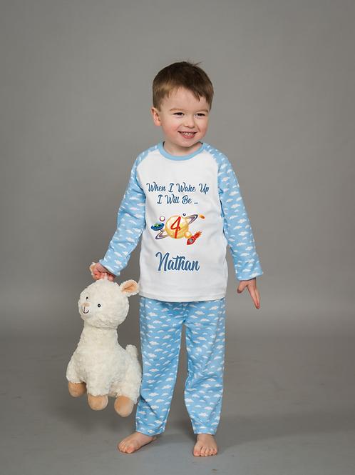 Blue Cloud Birthday Pyjamas