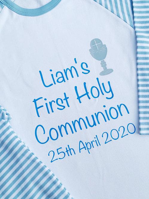 Boys Personalised Communion Pyjamas