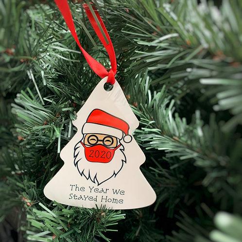 Masked Santa Christmas Ornament