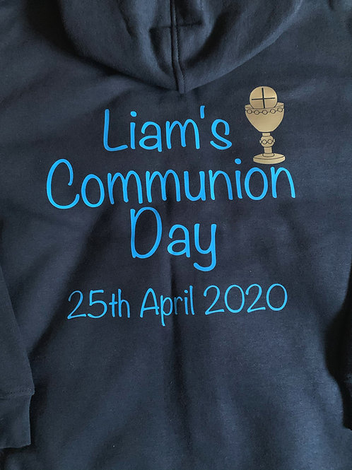 Personalised Boys Communion Hoodie