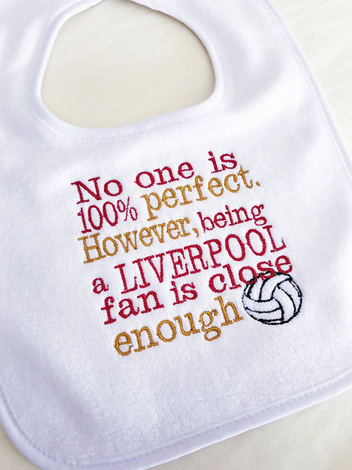 Liverpool football baby bib