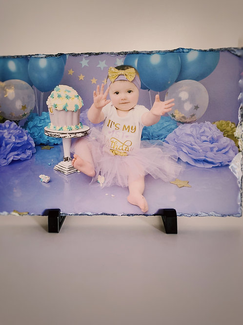 Personalised Photo Slate 20x30cm