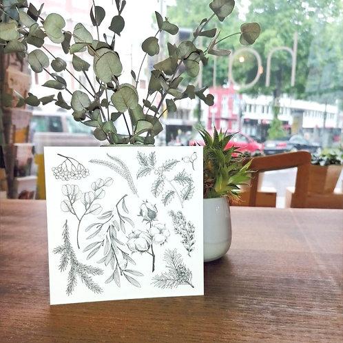 Postkarte Winterpflanzen