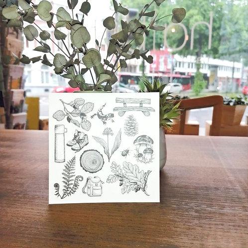 Postkarte Wandern