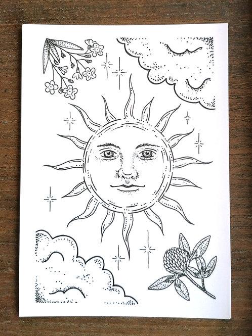 Postkarte Sunshine