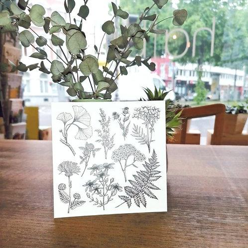 Postkarte Flowers