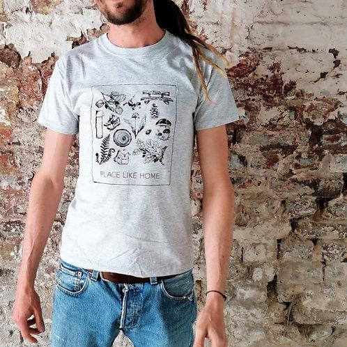 Walking Shirt hellgrau meliert (Men)