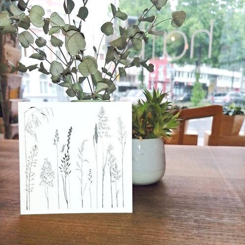Postkarte Gräser