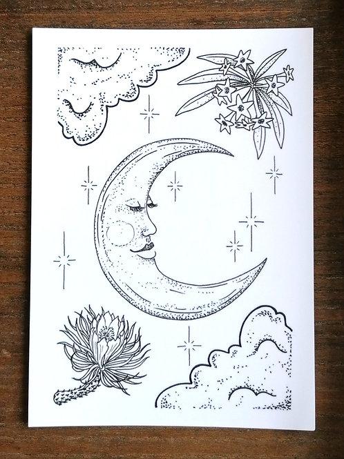 Postkarte Moonlight