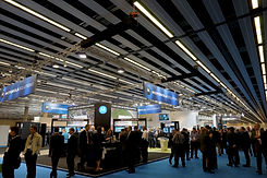 Exhibition hall from a large congress
