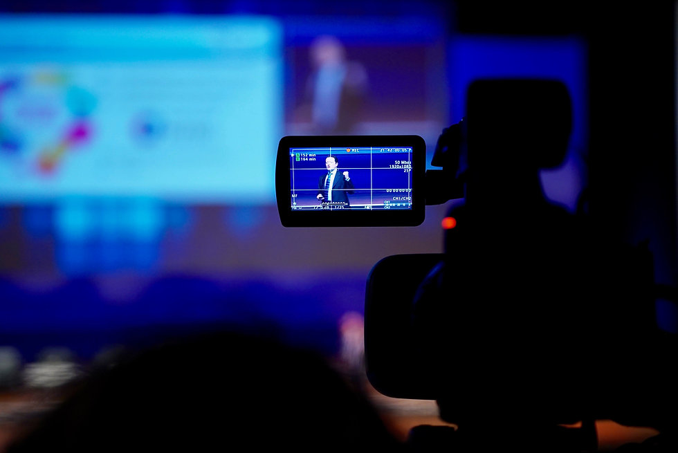 Filming and live streaming an event for a hybrid congress