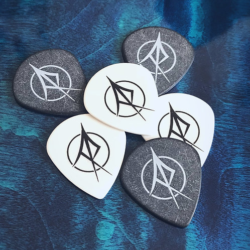 6 AR Logo Guitar Picks - 1.5mm
