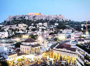 Views of the Acropolis and downtown Athe