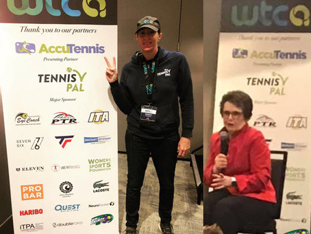 T30 Blog - Thirty30 tennis sponsor WTCA Conference in New York 2019 - Billie-Jean King & Sarah Stone