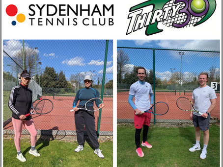 Sydenham Tennis Club Easter Tournament uses the quick-fire shorter faster-paced Thirty30 format