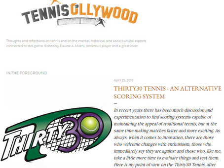 Tennis Ollywood Article: Thirty30 Tennis - An Alternative Scoring System