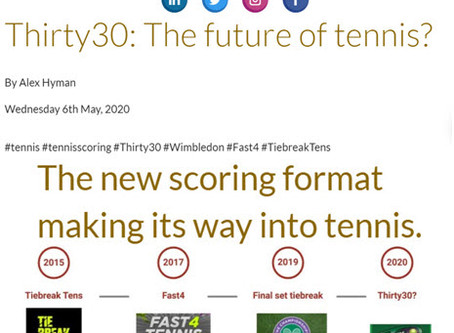 Keeping Score Sports Blog - Thirty30: The future of tennis? The new scoring format making its way...