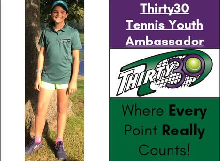 Sonia Chiorean (Tennis Oxfordshire) - Thirty30 Tennis Youth Ambassador