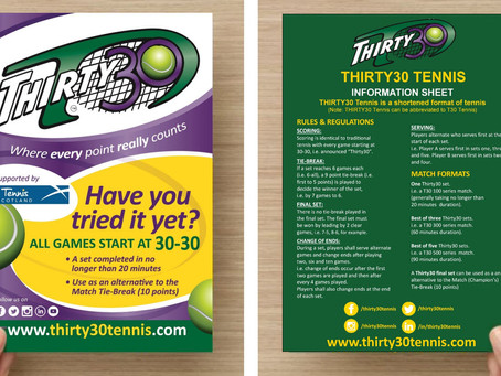 Thirty30 Tennis – Flyers Now Available