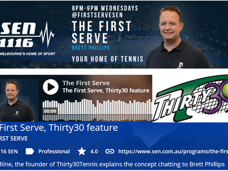 Thirty30 Tennis Blog – The First Serve – Interview with SEN Tennis Commentator Brett Phillips