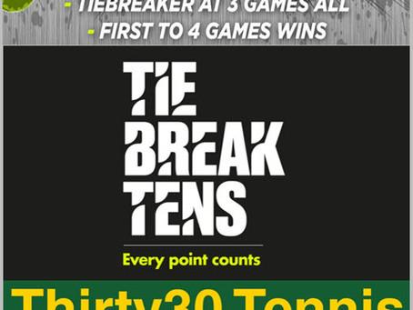 T30 Blog: Tennis Survey RESULTS - Shorter Scoring Formats: Fast4, Tie-Break Tens & Thirty30
