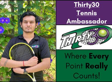 Abhijeet Dangat (Pune, Maharashtra, India) - Thirty30 Tennis Ambassador