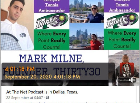 T30 Blog - At The Net Podcast - Mark Milne of Thirty30 Tennis - An Innovative Shorter Scoring System