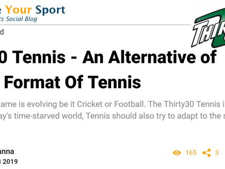 T30 Blog: Thirty30 Tennis - An Alternative of Shorter Format Of Tennis