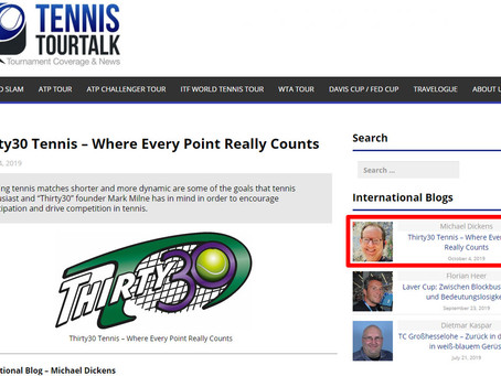 T30 Blog – Tennis-TourTalk.com Article: Thirty30 Tennis – Where EVERY Point REALLY Counts