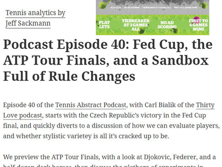 The Tennis Abstract Blog - NextGen FAST4 and Thirty30 Tennis Discussed