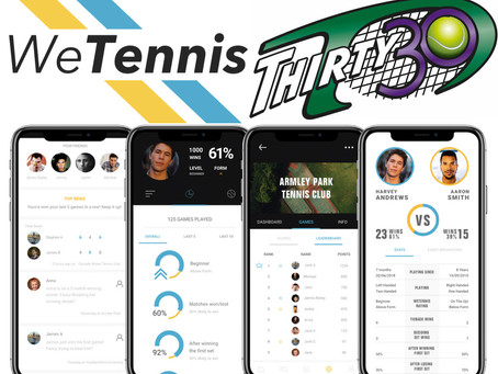 Thirty30 Tennis is chosen by WeTennis (App) for their Launch Events