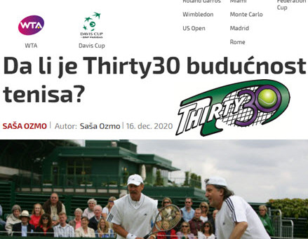 T30 Blog: SportKlub Article by Saša Ozmo - Is Thirty30 the future (shorter faster format) of tennis?