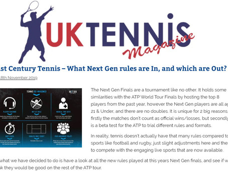 T30 Blog: UK Tennis Magazine: 21st Century Tennis - What Next Gen rules are In, and which are Out?