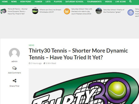 Troll Tennis Article: Thirty30 Tennis - Shorter More Dynamic Tennis - Have You Tried It Yet?