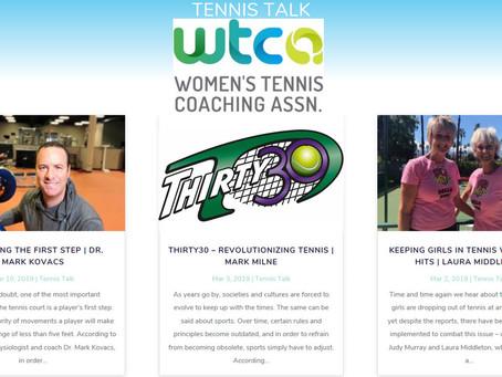 WTCA Tennis Talk - Thirty30 - Revolutionizing Tennis