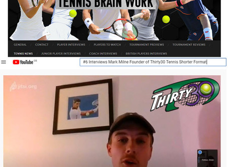 "Thirty30 Tennis Blog - Dan Rodenby Interview - Mark Milne ""The benefits of a shorter format & more!"""