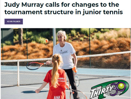 Thirty30 Blog - Tennis365 - Judy Murray calls for changes to tournament structure in junior tennis