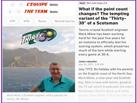 """What if the (tennis) scoring format changes? The tempting variant of the """"Thirty30"""" of a Scotsman"""