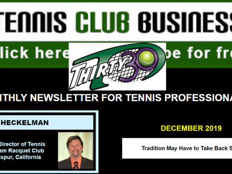 Thirty30 Tennis Blog: Tennis Club Business Article - Tradition May Have to Take Back Seat