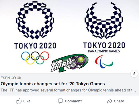 T30 Tennis Blog - ITF announce 2020 Tokyo Games tennis matches will be played over shorter format