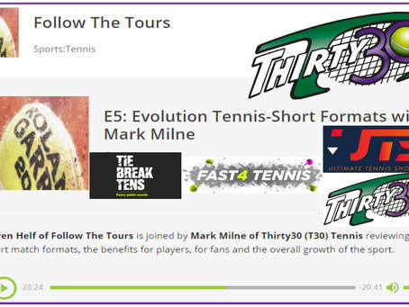 Karen Helf (FollowTTours) joins Mark Milne to review current short formats including Thirty30 Tennis