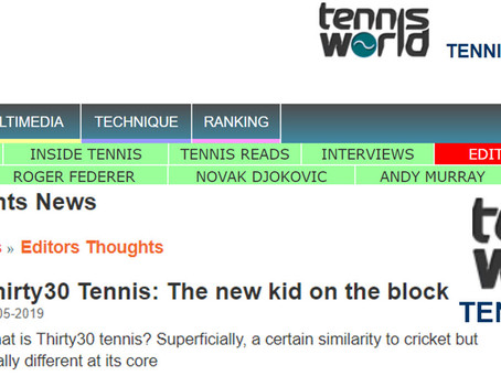 Tennis World USA - Editors Thoughts - Thirty30 Tennis: The new kid on the block