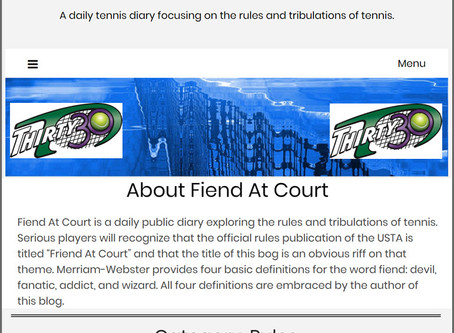 Thirty30 (T30) Tennis Blog – 'Fiend At Court' Diary – Rules of Tennis and the shorter Fast4 format