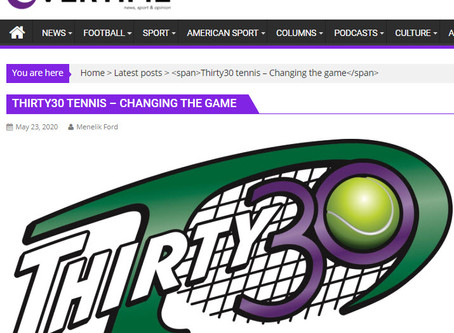 Overtime 'News, Sport & Opinion' Post: Thirty30 Tennis - Changing The Game
