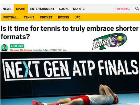 Thirty30 Blog: George Bellshaw Article - Is it time for tennis to truly embrace shorter formats?